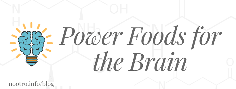 Power Foods for the Brain nootropics information